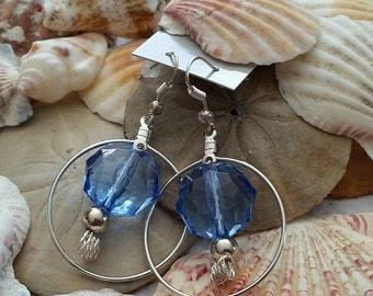 Blue Sparkle Around Earrings