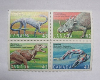 Dinosaurs Canadian Mint Stamps 1993
