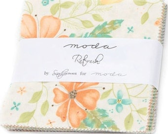 "Refresh Charm Pack by Sandy Gervais for Moda Fabrics 17860PP 42 5"" Fabric Squares"