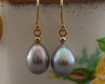 Jumana - Stunning platinum blush pearl earrings, dangle earrings, pearl jewelry, gift idea, for her, jewelry, anniversary, fashion, Bridal