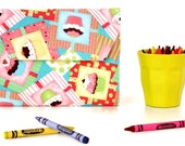 Cupcakes Deluxe Crayon Wallet with option to add a name, Crayon organizer, Art wallet, Crayon keeper, Art kit, Handmade toy, Art toy