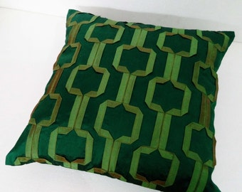 morrocan style geometric green cushion decorative cushion modern pillow home decor bed pillow sofa pillow sewing pattern decor silk cushion