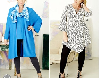 Simplicity Sewing  Pattern 8097, Women's Tunic Top and Leggings Pattern,  Women's Kimono Pattern