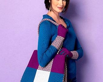 Large Tote Bags Pattern, Fashion Gloves Pattern, Butterick Sewing Pattern 6264