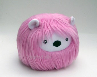 Pink Monster, Lola - Stuffed Toy, Furry Plushie, Cute Soft Toy Collectible by Stuffed Silly