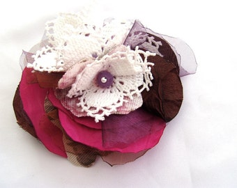 Boho bridal hair clip unique hair pin boho wedding, Mother' day gift, Gift for guests, floral hair clip