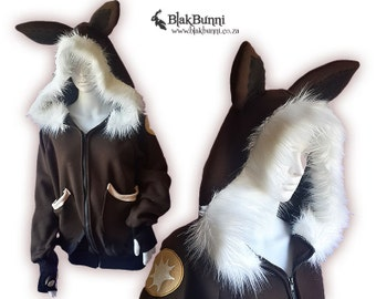 MADE TO ORDER Eevee fluffy bunny hoodie