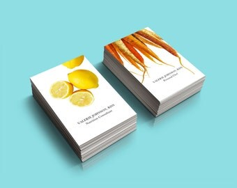 Food + Nutrition Business Card - Personalized for you - Two Designs Included