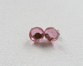 ns-CLEARANCE - Round Pink Stud Earrings