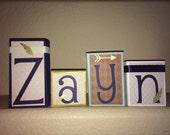 Custom Order for Amira - ZAYN's blue/brown BLOCKS
