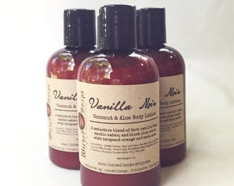 Vanilla Noir Body Lotion - Coconut Milk & Aloe Body Lotion with Cocoa Butter