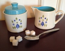 Marcrest Swiss Alpine covered sugar bowl and creamer set - Mid Century sugar and creamer - Marcrest china - US china - sugar and creamer