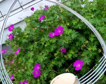 Vintage Garden Item Plant Hanger Plant Pot Holder White Metal Shabby Chic Farmhouse