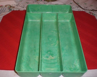 vintage Lustro-Ware Silverware Tray from the mid century fifties