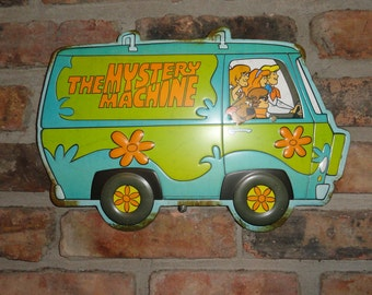 Hippy Van, 70's, Mystery Machine, Scooby Dooby Do, Classic Comics, Wall Art, Embossed Die Cut Tin Sign, Hippy Signs, Classic Wall Art.