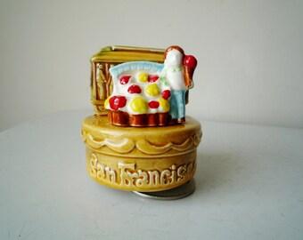 Vintage San Francisco Music Box, I Left My Heart in San Francisco, Vintage Music Box, Music Box Vintage, SALE