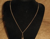 Avon Necklace and Earrings Set Amythest Vintage Pierced