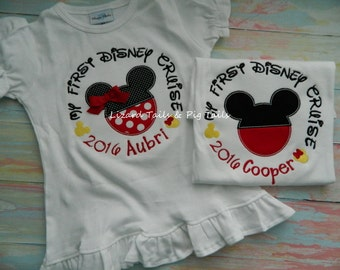 Disney Cruise Shirt, 1st Cruise, My First Cruise, Cruise Away, Sail Away with Mickey and Minnie Mouse