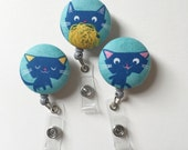 Kitty Cat ID Badge Holder Retractable in Cute Kitten, Cat Badge Reel, Nurse ID Badge Holder, Teacher Gift, Ready to Ship