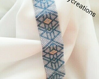 Peyote Pattern Blue Collection