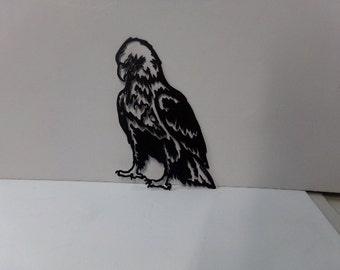 Eagle Head 033 Small Metal Wall Yard Art Silhouette
