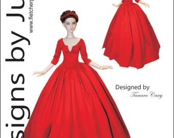Outlander Claire Dress Pattern for Cami & Antoinette Dolls Tonner