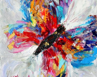 Butterfly canvas print on canvas made from image of Original painting by Karen Tarlton