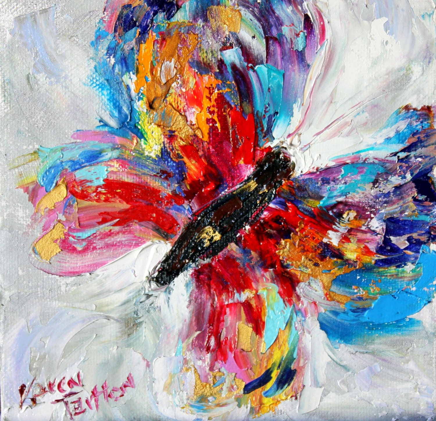 Butterfly canvas print on canvas made from image of Original