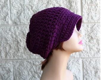 Slouchy  Newsboy Hat  Womens Winter Hat   Brim Hat  Womens Teens  Hipster Hat Fall Fashion Newsboy Brim Hat