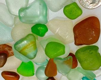 Sea Glass from Hawaii Sale! MULTI! WRITING! Aqua! SPRING Green!  Bulk Sea Glass! Mosaic Tiles!
