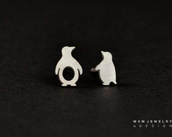 Sterling Silver Little Mix Penguin Stud Earrings