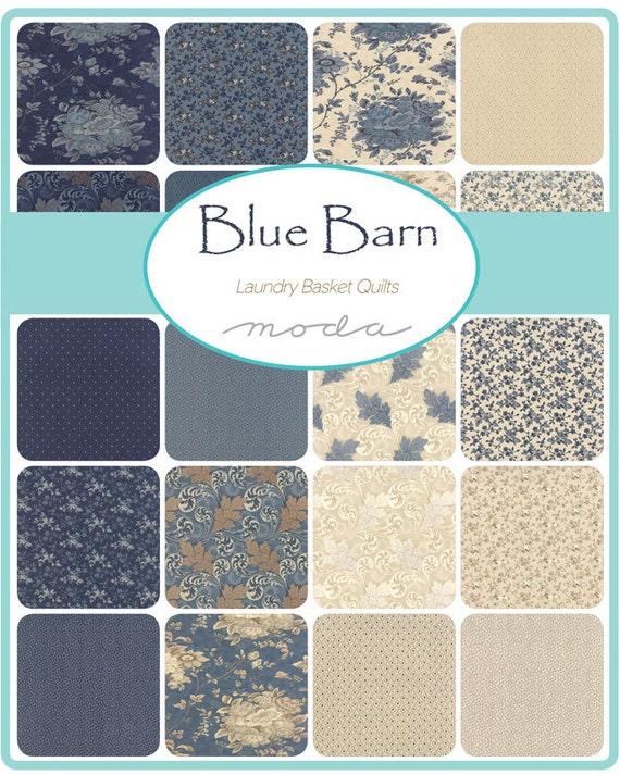 Blue Barn Prints Charm Pack Laundry Basket Quilts For Moda