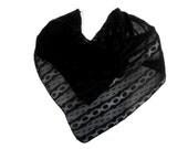 Black Lace Chiffon Scarf.  Woman's Square Scarves.  Classic Black Stripe Square Scarf.  Square Black Fashion Scarf.  Multi-Purpose Scarf