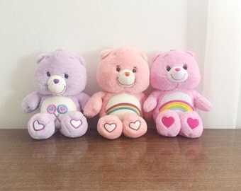 set of 3 care bears