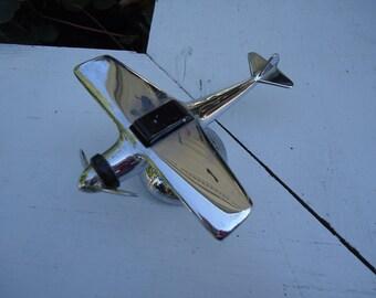 Vintage Chrome Airplane Lighter - Desktop Cigarette/Cigar Lighter