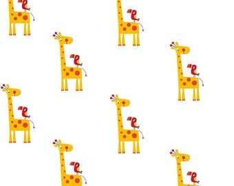 Yellow Giraffe in Double Gauze Fabric by Riley Blake Designs  - you choose the cut