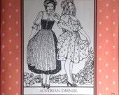 Autrichien Dirndl, motif Folkwear 123
