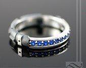 Sapphire Light Saber Ring - Sterling Silver