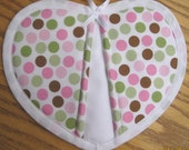 Reserved for Evelyn - Pink Dime Dots Potholders - Set of 2