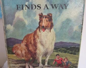 Vintage Lassie Book Big Golden Book Lassie Finds A Way 1957