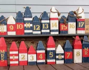20 Piece Wedding Buoy Set. Buoy Table Numbers. Multi Size Table numbers. Nautical Wedding. Beach Wedding. Made To Order