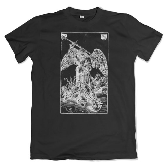 Archangel Michael Weighing a Soul T-Shirt. Angels and Demons. Art History. Gothic.