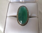 Reserved for Kate, please do not buy unless you are Kate. Aventurine and marcasite ring
