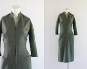 S A L E 1960's Vintage Minimalist Wool Dress