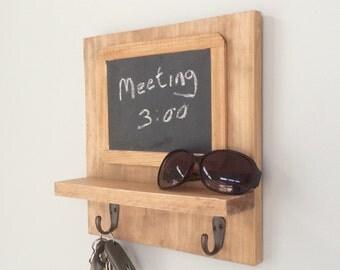 Chalkboard, Key Holder, Key Hooks, Shelves, Shelf, Reclaimed Wood, Farmhouse, Barn, Woodwork, Keys, Command Center, Office