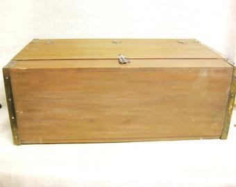 Vintage Wooden Storage Box, Handmade, Small Trunk, Cabinet, Cupboard, Storage, Organization, Wood, Large, Rustic, Cabin Decor