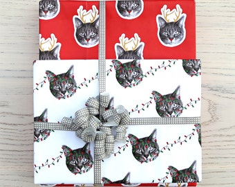 gee whiskers series: holiday cat wrapping paper