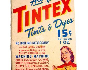Vintage TINTEX Dye in Original Box Unused Silver Grey 53 - 1940s Box of Tintex Clothing Dye Silver Grey 53 - Vintage 40s Advertising Decor