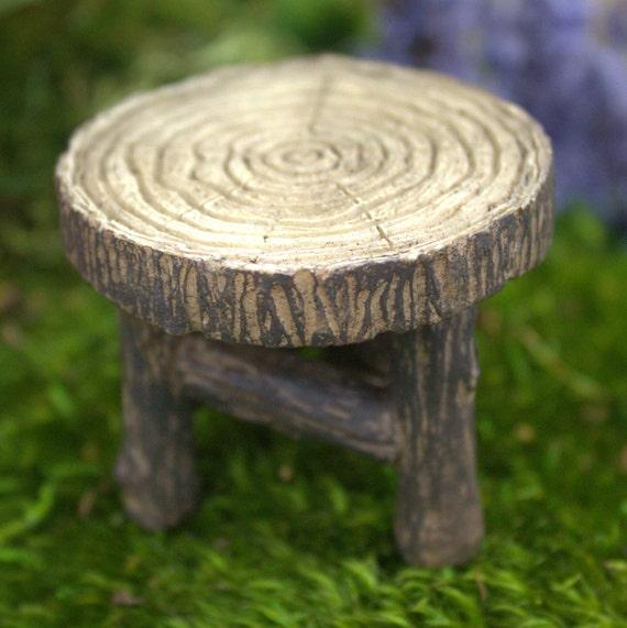 Fairy Garden Wood Table 1.75″ Tall | 2″ Diameter