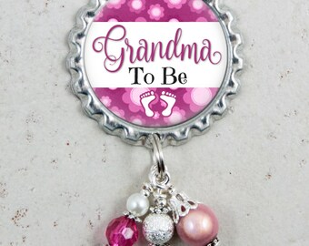 Grandma To Be, Pregnancy Announcement, Brooch Pin, Baby Shower Gift, Mommy To Be, Pregnancy Reveal